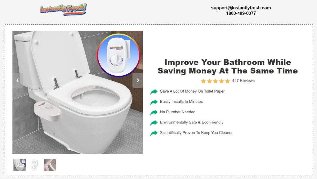 Instantly Fresh Bidet Price