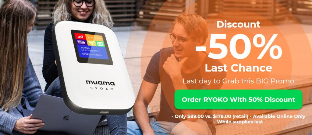 MUAMA Ryoko Portable Wifi Hotspot