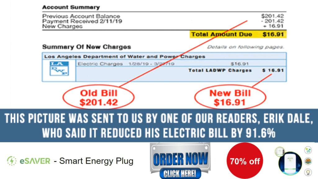 eSaver energy Saver device bill